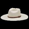 Ninakuru long brim Panama hat with tan suede hand woven braided band. Cotton interior band.