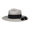 Ninakuru long brim Panama hat with grosgrain ribbon, ladder stitch and raffia band with tassel. Cotton interior band.