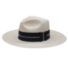 Ninakuru long brim Panama hat with ladder stitch. Cotton interior band.