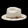 Ninakuru medium brim Panama hat with Leather braid band. Cotton interior band.