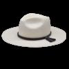 Ninakuru long brim Panama hat with leather band and leather tassel. Cotton interior band.