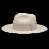 Ninakuru long brim Panama hat with grosgrain ribbon and XX loop. Cotton interior band.