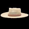 Ninakuru long brim Panama hat with grosgrain ribbon and leather band. Cotton interior band.