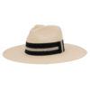 Ninakuru Panama hat with grosgrain ribbon.