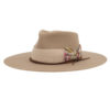 Ninakuru wool hat with grosgrain ribbon and leather lace band.