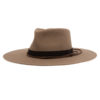 Ninakuru wool hat with suede and leather band with willow.