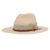 Ninakuru Panama hat with distressed grosgrain ribbon and bow.