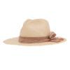 Ninakuru Panama hat with suede band and silk bow.