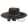 Ninakuru leather hat with horsehair band