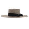 Ninakuru Panama hat with grosgrain ribbon and bow.