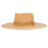 Ninakuru long brim Panama hat with grosgrain ribbon.