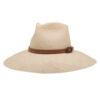 Ninakuru Panama hat with downturned brim and leather buckle band