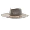Ninakuru Panama hat with zigzag weave and grosgrain ribbon.