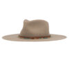 Ninakuru wool hat with leather band and stone beads