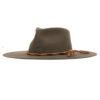 Ninakuru wool hat with braided leather band.