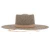 Ninakuru Panama hat with vegan suede and removeable straps.