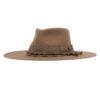 Ninakuru wool hat with grosgrain ribbon and linen band.