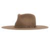 Ninakuru wool hat with turquoise beads and leather.