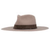 Ninakuru wool hat with suede and leather band.